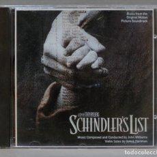 CDs de Música: CD. JOHN WILLIAMS. ITZHAK PERLMAN. LA LISTA DE SCHINDLER. SCHINDLER'S LIST. Lote 289580733
