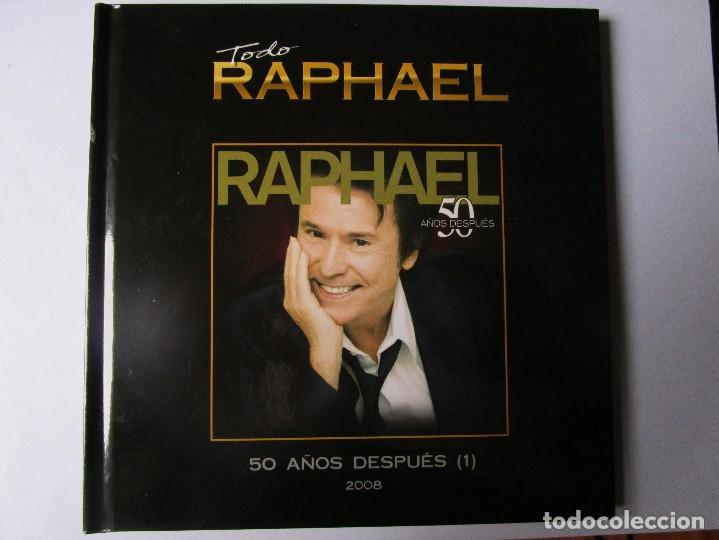CD LIBRO TODO RAPHAEL 50 AÑOS DESPUES ( 1 ) DUETOS CON SERRAT , SABINA ; VICTOR Y ANA , BUMBURY , (Música - CD's Melódica )