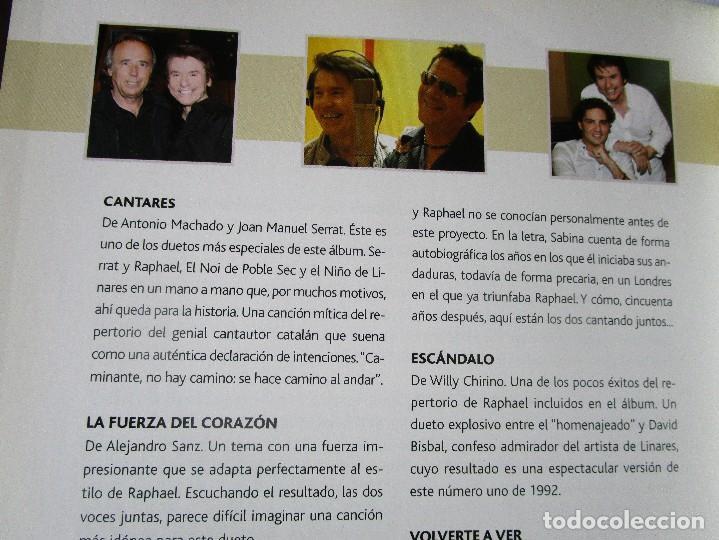 CDs de Música: CD LIBRO TODO RAPHAEL 50 AÑOS DESPUES ( 1 ) Duetos con Serrat , Sabina ; Victor y Ana , Bumbury , - Foto 2 - 289632123