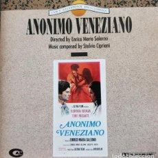 CDs de Música: ANONIMO VENEZIANO / STELVIO CIPRIANI CD BSO. Lote 289650138