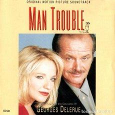 CDs de Música: MAN TROUBLE / GEORGES DELERUE CD BSO. Lote 289651073
