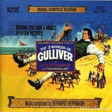 CDs de Música: THE 3 WORLDS OF GULLIVER / BERNARD HERRMANN CD BSO - CNR. Lote 289651313