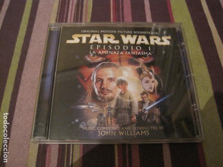 CD STAR WARS LA AMENAZA FANTASMA JOHN WILLIAMS + CARATULA DESPLEGABLE EN MINI POSTER BANDA SONORA (Música - CD's Bandas Sonoras)