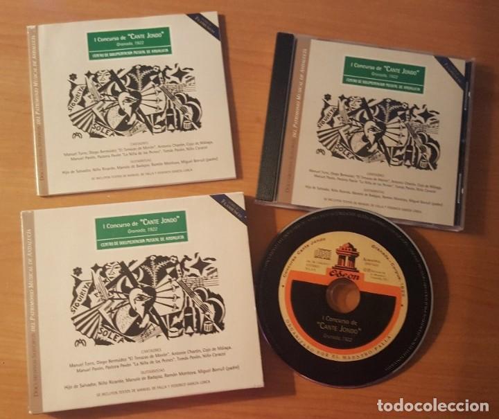 I CONCURSO DE CANTE JONDO GRANADA 1922 ESTUCHE CON LIBRETO Y CD CENTRO DE DOCUMENTACIÓN MUSICAL (Música - CD's Flamenco, Canción española y Cuplé)
