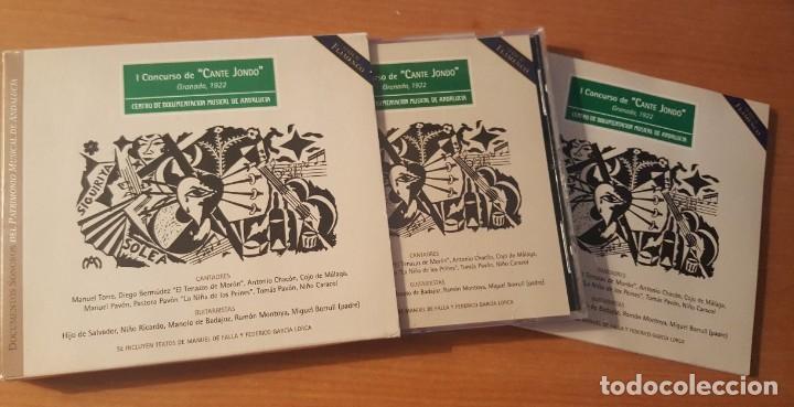 CDs de Música: I CONCURSO DE CANTE JONDO Granada 1922 Estuche con libreto y CD Centro de Documentación Musical - Foto 3 - 289678388