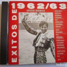 CDs de Música: CD EXITOS 62/ 63 LOS MUSTANG , GELU , DUO DINAMICO , LOS PEKENIKES , GLORIA LASSO , JOSE GUARDIOLA ,. Lote 289769988