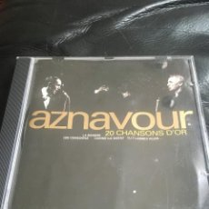 CDs de Música: CHARLES AZNAVOUR - 20 CHANSONS D´OR - CD. Lote 289779468