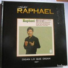 CDs de Música: CD LIBRO TODO RAPHAEL DIGAN LO QUE DIGAN , MI GRAN NOCHE ,TEMA DE AMOR , ACURELA DEL RIO , LLORONA. Lote 289807253