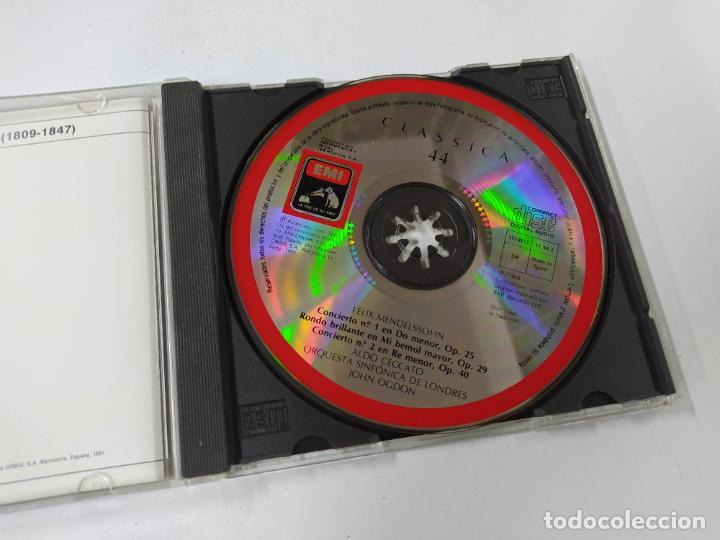 CDs de Música: MENDELSSOHN. CONCIERTO Nº 1 OP. 25. OGDON. ORQUESTA SINFONICA LONDRES. CLASSICA Nº 44. CD. TDKCD85 - Foto 2 - 289884548