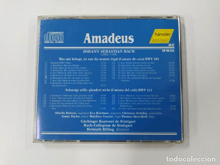 CDs de Música: BACH - CANTATA DE CAZA BWV 208, CANTATA DEL CAFE BWV 211 - HELMUTH RILLING. AMADEUS. CD. TDKCD85 - Foto 3 - 289884668