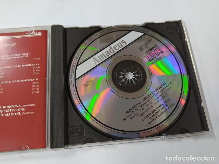 CDs de Música: MOZART. SINFONIAS Y ARIAS DE JUVENTUD. TATIANA KOROVINA, CARLO DE MARTINI. AMADEUS CD. TDKCD85 - Foto 2 - 289884828