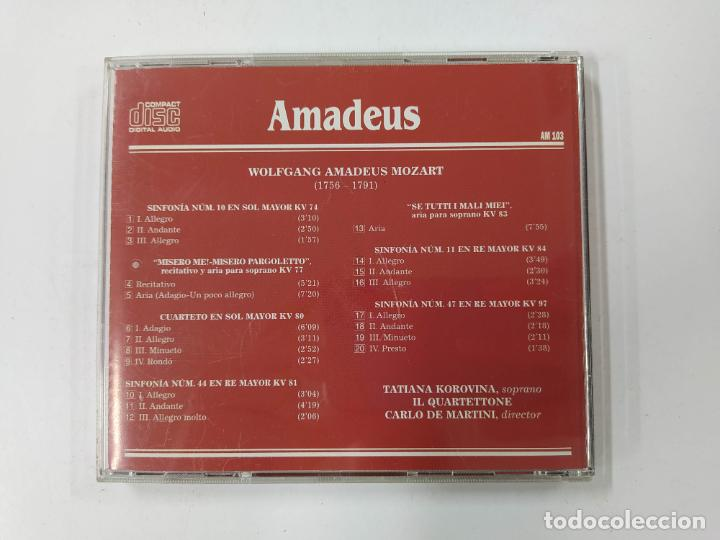 CDs de Música: MOZART. SINFONIAS Y ARIAS DE JUVENTUD. TATIANA KOROVINA, CARLO DE MARTINI. AMADEUS CD. TDKCD85 - Foto 3 - 289884828