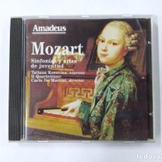 CDs de Música: MOZART. SINFONIAS Y ARIAS DE JUVENTUD. TATIANA KOROVINA, CARLO DE MARTINI. AMADEUS CD. TDKCD85. Lote 289884828