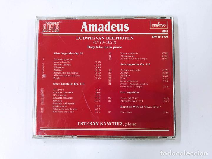 CDs de Música: BEETHOVEN. BAGATELAS PARA PIANO, ESTEBAN MANCHES PIANO. AMADEUS. CD. TDKCD85 - Foto 3 - 289885303