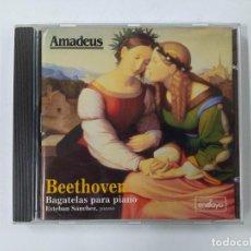 CDs de Música: BEETHOVEN. BAGATELAS PARA PIANO, ESTEBAN MANCHES PIANO. AMADEUS. CD. TDKCD85. Lote 289885303