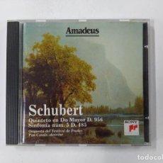 CDs de Música: SCHUBERT. QUINTETO EN DO MAYOR D. 956. ORQUESTA DEL FESTIVAL DE PRADES. CD. AMADEUS TDKCD85. Lote 289885488