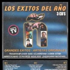 CDs de Música: D. CD. LOS EXITOS DEL AÑO, GRANDES EXITOS-ARTISTAS ORIGINALES. 3 CD,S.. Lote 289890538
