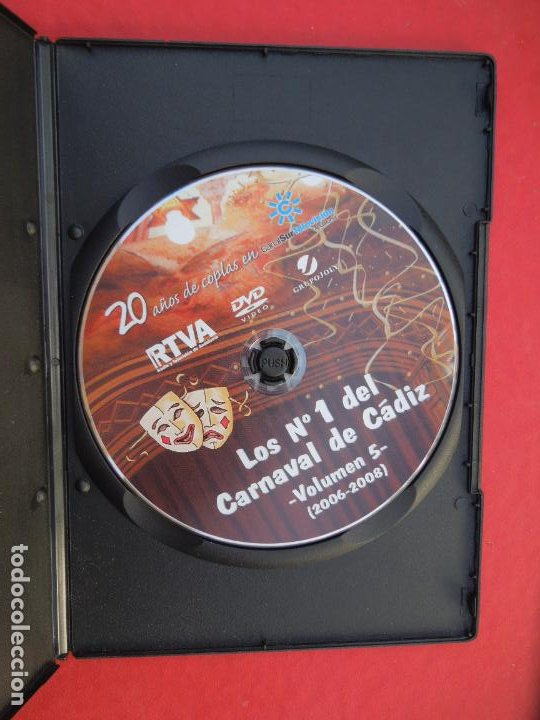 CDs de Música: LOS Nº 1 DEL CARNAVAL DE CADIZ - VOLUMEN 5 - 2006-2008- DVD VER CARATULA PARA EL CONTENIDO - Foto 3 - 289890828