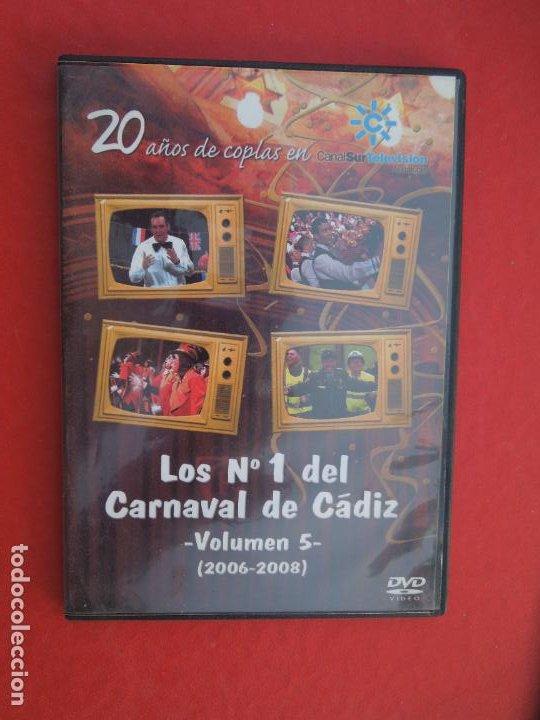 LOS Nº 1 DEL CARNAVAL DE CADIZ - VOLUMEN 5 - 2006-2008- DVD VER CARATULA PARA EL CONTENIDO (Música - CD's Flamenco, Canción española y Cuplé)
