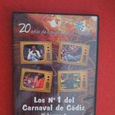 CDs de Música: LOS Nº 1 DEL CARNAVAL DE CADIZ - VOLUMEN 5 - 2006-2008- DVD VER CARATULA PARA EL CONTENIDO. Lote 289890828