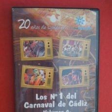 CDs de Música: LOS Nº 1 DEL CARNAVAL DE CADIZ - VOLUMEN 4 - 2002-2005- DVD VER CARATULA PARA EL CONTENIDO. Lote 289891008