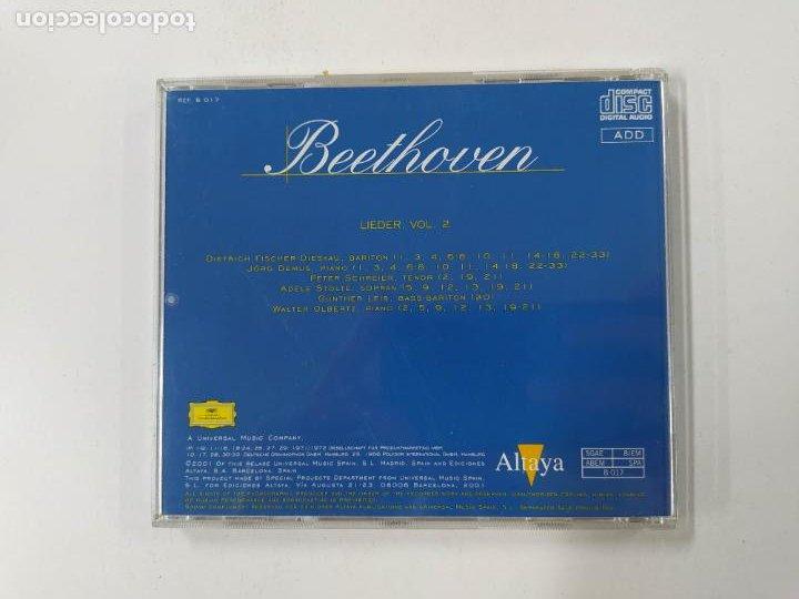 CDs de Música: TODO BEETHOVEN. LIEDER VOL. 2. CD. ALTAYA. TDKCD86 - Foto 3 - 289893798