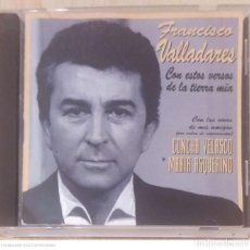 CDs de Música: FRANCISCO VALLADARES (CON ESTOS VERSOS DE LA TIERRA MIA) CD 1994 - CONCHA VELASCO Y MARIA ASQUERINO. Lote 290015918