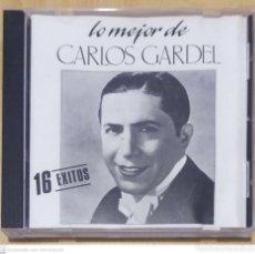 CDs de Música: CARLOS GARDEL (LO MEJOR DE CARLOS GARDEL - 16 EXITOS) CD 1988. Lote 290038408