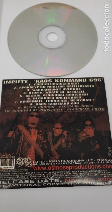 CDs de Música: CD MUSICA METAL - IMPIETY - KAOS KOMMAND 696 - MAXI SINGLE - Foto 2 - 290089908