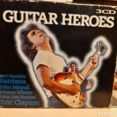 CDs de Música: TRIPLE CD : GUITAR HEROES ( JIMMY HENDRIX, SANTANA, ERIC CLAPTON, JOHN MAYALL, MITCH RYDER, ETC. Lote 290098583