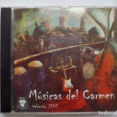 CDs de Música: MÚSICAS DEL CARMEN - VALENCIA, 2000 - CD ALBUM - 18 TRACKS - EDITA: ROCKO - AÑO 2000. Lote 291316203