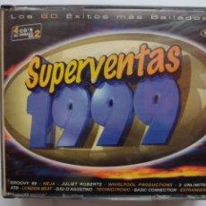 CD de Música: SUPERVENTAS 1999 - 4 CDS -LOS 60 EXITOS MAS BAILADOS -DANCE POP LATINO HOUSE RAP TECHNO PROGRESSIVE. Lote 291318218