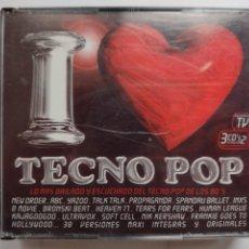 CDs de Música: I LOVE TECNO POP - 3 CDS - BLANCO Y NEGRO-NEW ORDER.INXS.ABC.DOLLAR.FREEZ.PIG BAG.AZUL Y NEGRO.YELLO. Lote 291318583