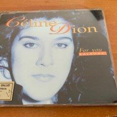 CDs de Música: CELINE DION (FOR YOU BALADAS) CD SINGLE PROMO 3 TRACK (CDIM1). Lote 291945028