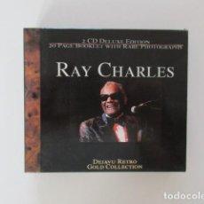 CDs de Música: RAY CHARLES 2 CD DELUXE EDITION - CON LIBRETO DE 20 PAGINAS CON FOTOGRAFÍAS. Lote 292391213