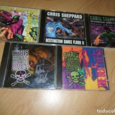 CDs de Música: CHRIS SHEPPARD - LOTE 5 CDS - DESTINATION DANCE FLOORE 1, 2, 3. / PIRATE SESSIONS 3, 4. - Y MAS CDS. Lote 293369593