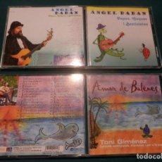 CDs de Música: ÀNGEL DABAN - PAPUS, CUQUES I BESTIOLETES + TONI GIMÉNEZ - AMOR DE BALENES - LOTE 2 CD'S. Lote 293575343
