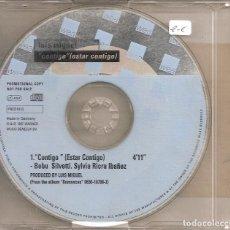 CDs de Música: LUIS MIGUEL - CONTIGO (CDSINGLE CAJA PROMO, WEA RECORDS 1997). Lote 293710078