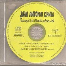 CDs de Música: JUAN ANTONIO CANTA - DANZA DE LOS CUARENTA LIMONES (THREE VERSIONS) (CDSINGLE CAJA, VIRGIN 1996). Lote 293712043
