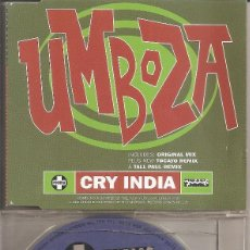 CDs de Música: UMBOZA - CRY INDIA (SIX VERSIONS) (CDSINGLE CAJA, LIMBO RECORDS 1995). Lote 293713958