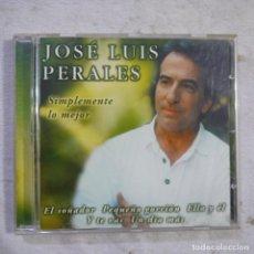CDs de Música: JOSÉ LUIS PERALES - SIMPLEMENTE LO MEJOR - CD 2001. Lote 293780238