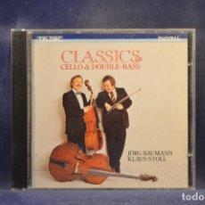 CDs de Música: KLAUS STOLL AND JÖRG BAUMANN - CLASSICS FOR CELLO AND DOUBLE BASS - CD. Lote 293804518
