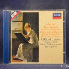 CD de Música: SCHUBERT / CURZON, MEMBERS OF THE WIENER OKTETT - TROUT QUINTET / DEATH AND THE MAIDEN - CD. Lote 293810003