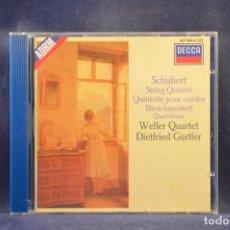 CD de Música: SCHUBERT - WELLER QUARTET, DIETFRIED GÜRTLER - STRING QUINTET, QUARTETTSATZ - CD. Lote 293810588