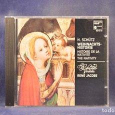 CD de Música: H. SCHÜTZ - CONCERTO VOCALE, RENÉ JACOBS - WEIHNACHTS-HISTORIE, HISTOIRE DE NATIVITÉ, NATIVITY - CD. Lote 293811903