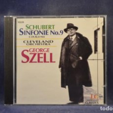 CD de Música: SCHUBERT: CLEVELAND ORCHESTRA, GEORGE SZELL - SINFONIE NO. 9, C-DUR, D. 944 - CD. Lote 293816958