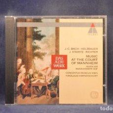 CD de Música: J.C. BACH: CONCENTUS MUSICUS WIEN, NIKOLAUS HARNONCOURT - MUSIC AT THE COURT OF MANNHEIM - CD. Lote 293818508