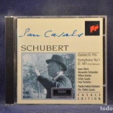 CD de Música: SCHUBERT: ISAAC STERN, ALEXANDER SCHNEIDER, PABLO CASALS - QUINTET D. 956 / SYMPHONY NO. 5 D. 485. Lote 293819468