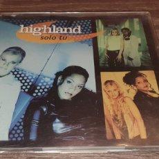 CDs de Música: HIGHLAND - SÓLO TU - CD SINGLE 5 REMIXES VALE MUSIC. Lote 293989543