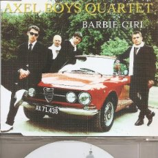 CDs de Música: AXEL BOYS QUARTET - BARBIE GIRL (THREE VERSIONS) (CDSINGLE CAJA, EDEL 1999). Lote 294070008